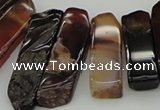 CTD388 Top drilled 10*20mm - 12*55mm wand agate gemstone beads