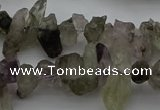 CTD413 Top drilled 4*8mm - 6*15mm nuggets green quartz beads