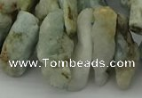 CTD421 Top drilled 10*20mm - 18*35mm nuggets aquamarine beads