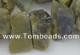 CTD430 15.5 inches 12*20mm - 15*25mm nuggets labradorite beads