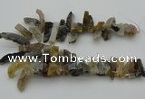 CTD436 Top drilled 10*20mm - 12*45mm sticks druzy agate beads
