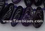 CTD448 Top drilled 10*20mm - 15*30mm freeform amethyst beads