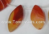 CTD49 Top drilled 13*30mm – 18*45mm marquise agate gemstone beads