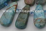 CTD491 Top drilled 10*22mm - 15*45mm freeform apatite beads