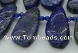CTD496 Top drilled 10*22mm - 15*45mm freeform lapis lazuli beads