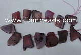 CTD521 Top drilled 20*30mm - 30*45mm freeform agate beads