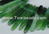 CTD586 Top drilled 6*20mm - 6*45mm wand agate gemstone beads