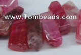 CTD604 Top drilled 10*18mm - 12*28mm nuggets agate gemstone beads