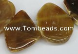 CTD611 Top drilled 25*30mm - 34*45mm freeform agate gemstone beads