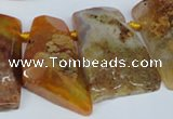 CTD657 Top drilled 25*40mm - 30*55mm freeform agate beads