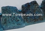 CTD665 Top drilled 25*30mm - 30*40mm freeform agate beads