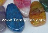 CTD690 Top drilled 18*25mm - 28*40mm freeform agate gemstone beads