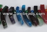 CTD714 Top drilled 12*25mm - 15*40mm wand agate gemstone beads