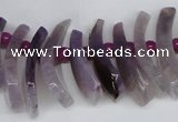 CTD728 Top drilled 12*25mm - 14*40mm wand agate gemstone beads