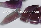 CTD733 Top drilled 15*20mm - 15*40mm wand agate gemstone beads