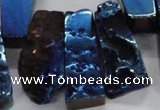 CTD747 Top drilled 15*25mm - 20*65mm freeform plated agate beads
