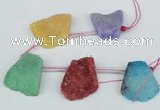 CTD765 Top drilled 25*30mm - 30*35mm freeform agate beads