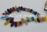 CTD792 Top drilled 10*18mm - 12*30mm wand agate gemstone beads