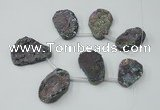 CTD817 Top drilled 18*22mm - 30*40mm freeform agate beads