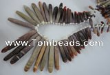 CTD828 Top drilled 5*20mm - 10*80mm stick sea urchin shell beads