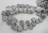 CTD900 Top drilled 15*20mm - 20*30mm freeform plated quartz beads
