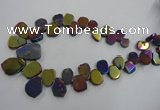 CTD905 Top drilled 15*20mm - 20*30mm freeform plated quartz beads
