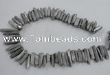 CTD916 Top drilled 6*25mm - 8*40mm wand plated quartz beads