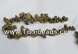 CTD946 Top drilled 10*15mm - 15*25mm nuggets plated druzy agate beads