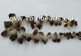 CTD970 Top drilled 10*15mm - 15*30mm nuggets citrine gemstone beads