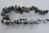 CTD980 Top drilled 10*15mm - 15*25mm nuggets plated druzy agate beads