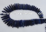 CTD982 Top drilled 6*20mm - 8*45mm sticks lapis lazuli gemstone beads