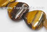 CTE07 20mm heart shape yellow tiger eye beads Wholesale