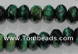CTE1023 15.5 inches 8*12mm faceted rondelle dyed green tiger eye beads