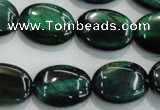 CTE1044 15.5 inches 15*20mm oval dyed green tiger eye beads