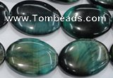 CTE1050 15.5 inches 18*25mm oval dyed green tiger eye beads