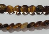 CTE1090 15.5 inches 10mm flat round yellow tiger eye beads