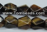 CTE118 15.5 inches 12*18mm faceted cuboid yellow tiger eye beads