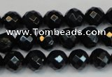 CTE1187 15.5 inches 10mm faceted round blue tiger eye beads