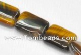 CTE12 15.5 inches 15*20mm rectangle yellow tiger eye beads