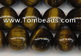 CTE1212 15.5 inches 10mm round AB grade yellow tiger eye beads