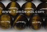 CTE1214 15.5 inches 14mm round AB grade yellow tiger eye beads