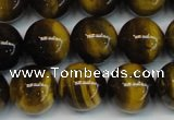 CTE1218 15.5 inches 6mm round AB+ grade yellow tiger eye beads