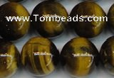 CTE1223 15.5 inches 16mm round AB+ grade yellow tiger eye beads