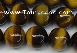 CTE1235 15.5 inches 8mm round A+ grade yellow tiger eye beads