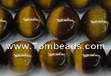 CTE1237 15.5 inches 12mm round A+ grade yellow tiger eye beads