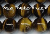 CTE1251 15.5 inches 8mm round AAA grade yellow tiger eye beads