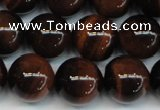 CTE1286 15.5 inches 10mm round A+ grade red tiger eye beads