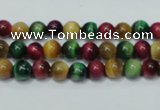 CTE132 15.5 inches 6mm round dyed tiger eye gemstone beads