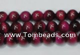 CTE136 15.5 inches 8mm round dyed tiger eye gemstone beads