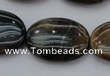 CTE1365 15.5 inches 18*25mm oval yellow & blue tiger eye beads